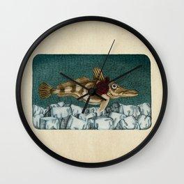 The Ice Fish Cometh Wall Clock