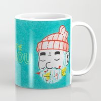 the life aquatic Mugs featuring Aquatic Life by Derek Eads