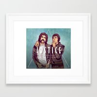 justice Framed Art Prints featuring Justice by Matt Chinn
