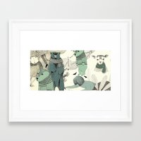 into the wild Framed Art Prints featuring wild by maria elina