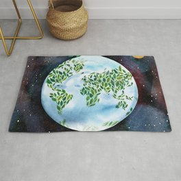 Big Green Earth  Rug