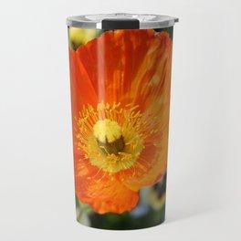 Orange Glowing Poppy by Mandy Ramsey, Haines, Alaska Travel Mug