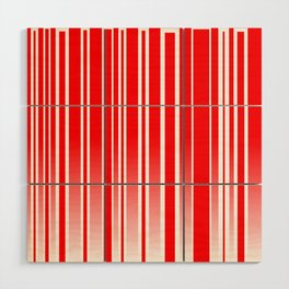 Red Track Wood Wall Art