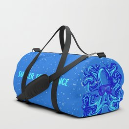 Nerdy Octopus Print: Sucker for Science Duffle Bag