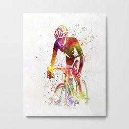 Woman triathlon cycling 04 Metal Print