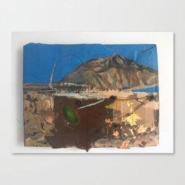 Alchemy at Anapra original painting, ciudad juarez - el paso border . cardboard barrio Canvas Print