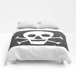 Pirate flag Comforters