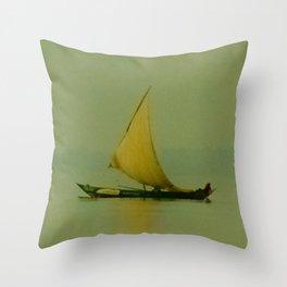 Lake Victoria Sailboat Throw Pillow