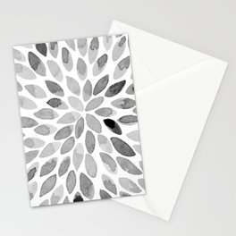 Watercolor brush strokes - black and white Stationery Cards