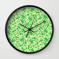 vegetable Wall Clocks featuring Vegetable salad by Tony Vazquez