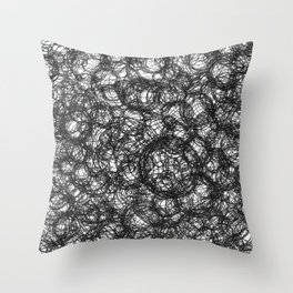 Black Ink on White Throw Pillow