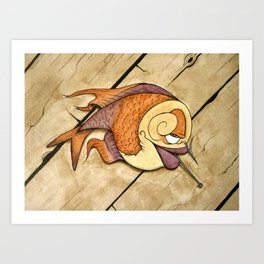 Somethin's Fishy Art Print