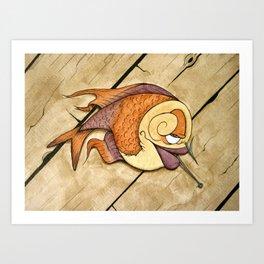 Somethin's Fishy Art Print