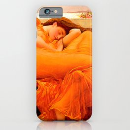 Flaming June by by Frederic Leighton iPhone Case