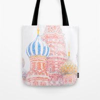 russian Tote Bags featuring Russian Winter by digital2real