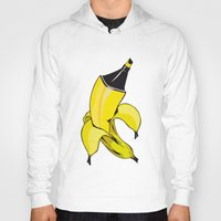banana Hoodies featuring Banana  by Gaby Yerden