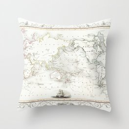 The Voyages of Captain James Cook (1852) by James Cook Throw Pillow
