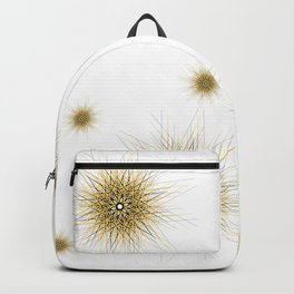 Bright mustard yellow mandala star Backpack