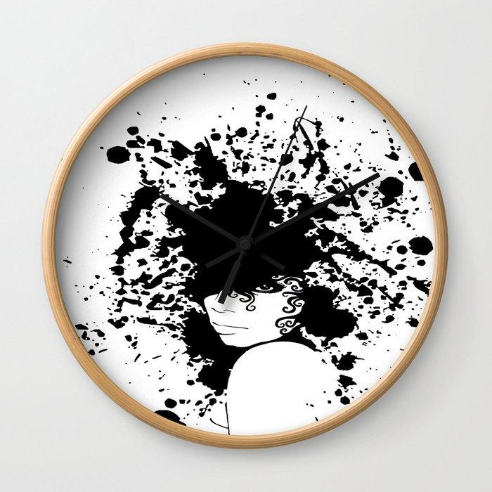 Raye 6 Splatter Wall Clock