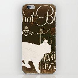 Chat Blanc iPhone Skin