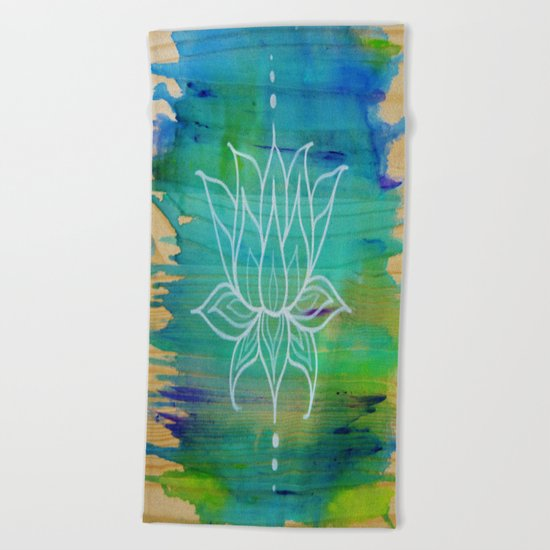 Lotus Love Beach Towel