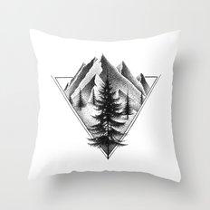 NORTHERN MOUNTAINS II Throw Pillow