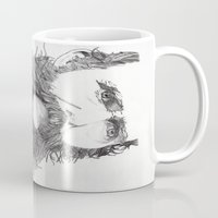 moustache Mugs featuring Moustache by Paul Nelson-Esch Art