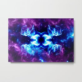 Glowing Lights In Space Metal Print