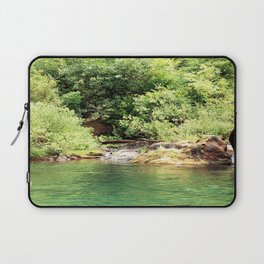 Peacefulness at the river.... Laptop Sleeve