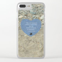 Hardened Hearts Clear iPhone Case