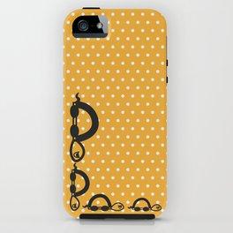 """""""I can swim in ORANGE polka dot!"""" iPhone Case"""