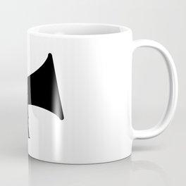 Megaphone Silhouette Coffee Mug