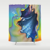 cocktail Shower Curtains featuring Cocktail bubbles by Just Kidding