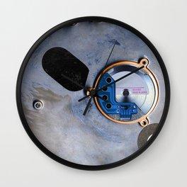 Digital Lanscape In Blue Wall Clock