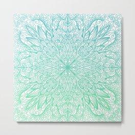 Square Mandala Metal Print