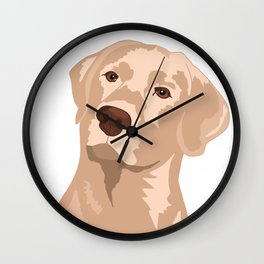 Goldie the Golden Lab Wall Clock