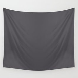 Dark Smoke Gray Solid Color Pairs With Sherwin Williams 2020 Trending Color Perle Noir SW9154 Wall Tapestry