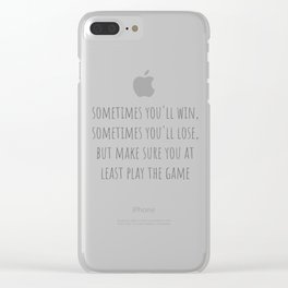 Play The Game Clear iPhone Case