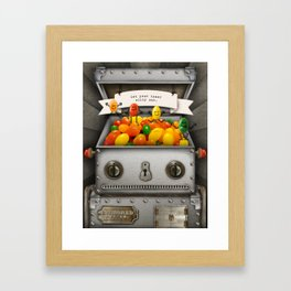 Robot suggests you be silly. Framed Art Print