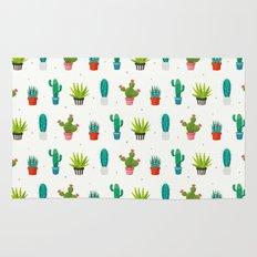 Colorful cactus succulent plant flower nature pattern Rug