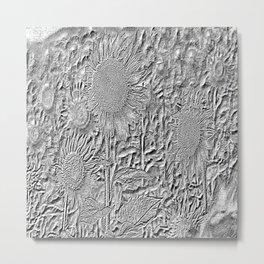 Sunflow on white Metal Print