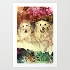 Bryn & Bailey Art Print