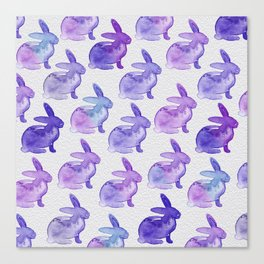 Watercolor Bunnies 1K by Kathy Morton Stanion Canvas Print