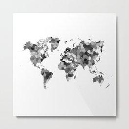 Low poly world map Metal Print
