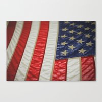 american flag Canvas Prints featuring American Flag by alltheprettythings
