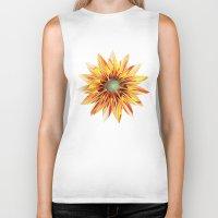 sunflower Biker Tanks featuring Sunflower by Klara Acel