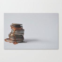 Melting Coins Canvas Print