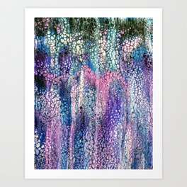 Carwash Color Foam - acrylic pour painting Art Print