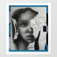 fka twigs Art Prints featuring FKA TWIGS by nordacious