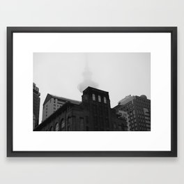 Auckland Cloud Framed Art Print